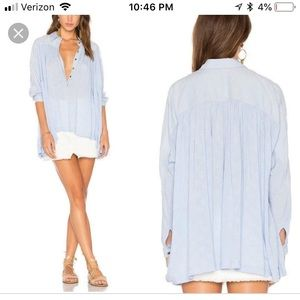NWT Free People Lovely Day Blouse